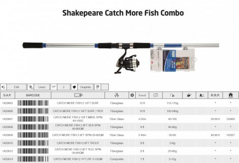 Shakespeare catch more fish 2 10ft mkrl spin 40-100g